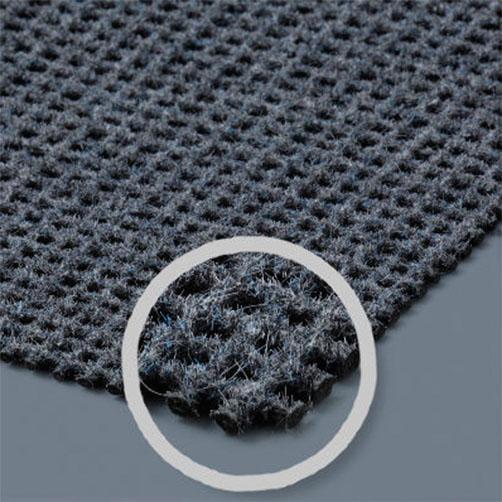 Polyamid Flocken stabiliseren auf Textilböden.