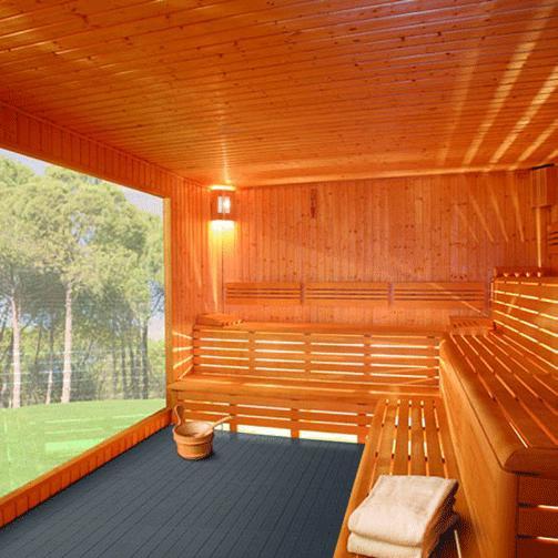 Das Produkt ist auch für Saunabereiche oder Spa-Anwendungen geeignet