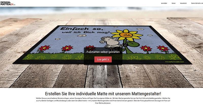 Matmaker für selbstgestaltete Designmatten