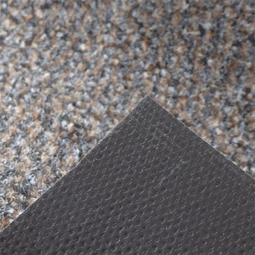 Schmutzmatte Granat braun, Rückseite