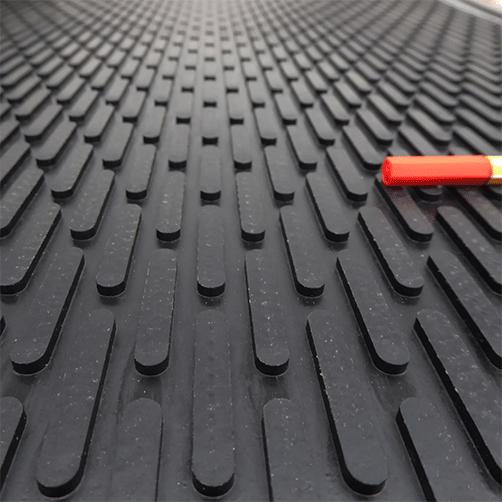 Gummi-Eingangsmatte Soil-Guard Abstreifstege