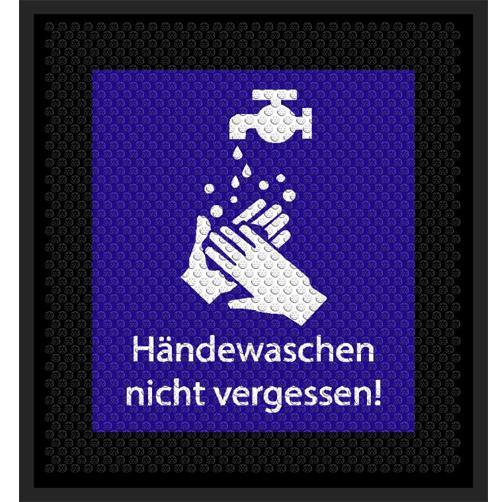 Hygiene-Hinweismatte Hände Waschen