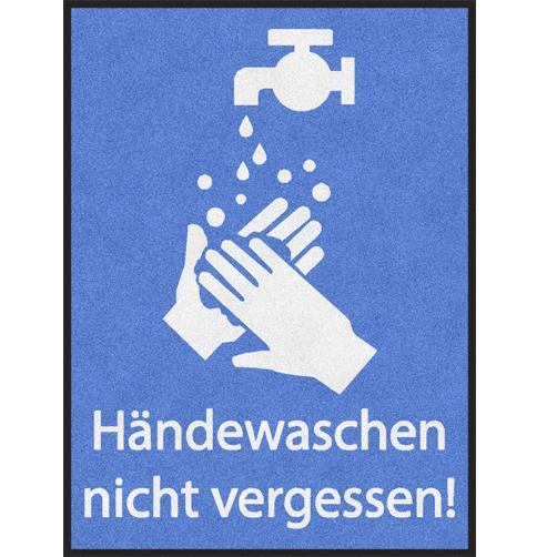 Hinweismatte Hände waschen