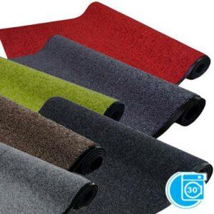 waschbare Schmutzfangmatte in unifarben - robuster Sauberlaufteppich