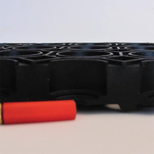 Ringgummimatte Wabenmatte von der Seite, Größenvergleich