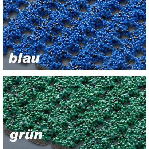 Antirutsch-Sicherheitsmatte Farben blau und grün