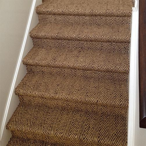 Kokosverlegeware für Treppe