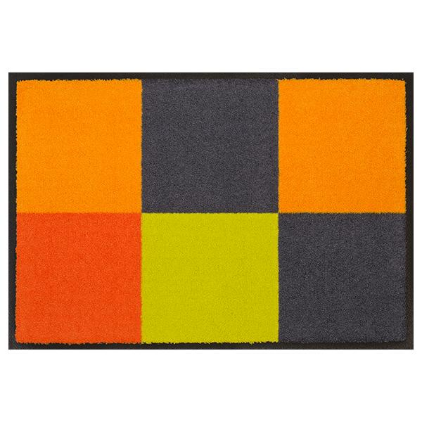 designmatte-quadra-orange-grau